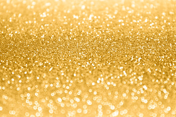Gold Confetti Glitter Sparkle Background