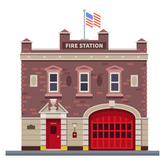 Building of fire station