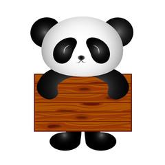 Panda with board