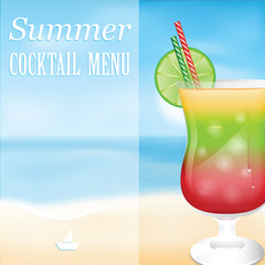 Design a menu for summer drinks