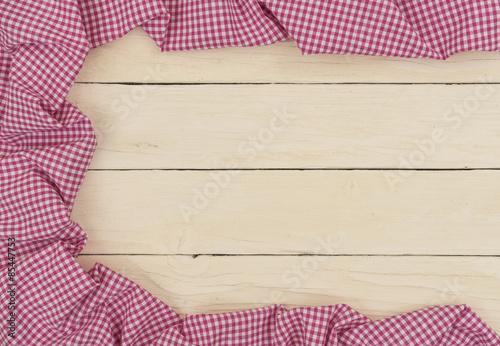 Einladung Hochzeit Holz Hintergrund Mit Stoff Kariert