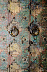 Ancient traditional Azian architecture door