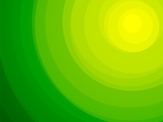 beautiful circular green bio background