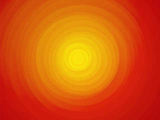 sun red yellow orange background asymmetric circles