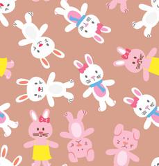 rabbit seamless background