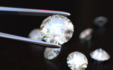 Jewelry tweezer and Diamonds