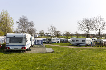 Carvans at campingsite