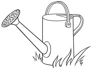 Watering can for the garden.