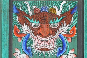 Buddhist tiger decoration