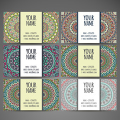 Business Cards. Vintage decorative elements.