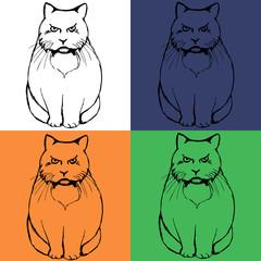 pattern sad cat