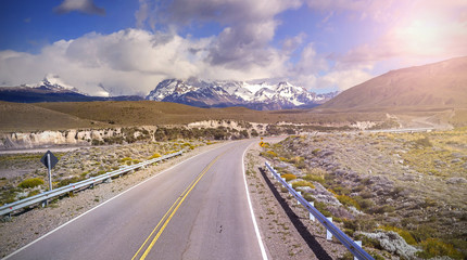 Road to El Chalten village, Argentina.