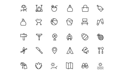 Holiday Vector Line Icons 3