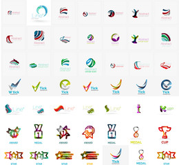 Large corporate company logo collection. Universal icon set for