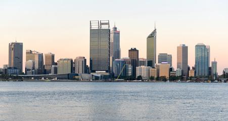 Door stickers Australia Perth, Australia Skyline reflected in the Swan River