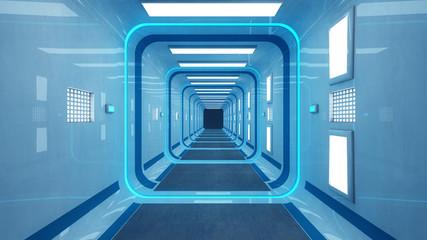 Futuristic corridor architecture