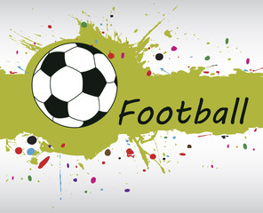 Football banner.Abstract green splash.Football background with c