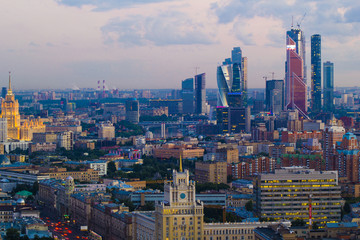 Landscape Moscow city, Moscow, Russia