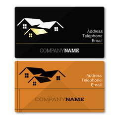 sale of real estate business card vector