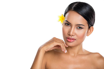 Young beautiful spa woman with healthy skin