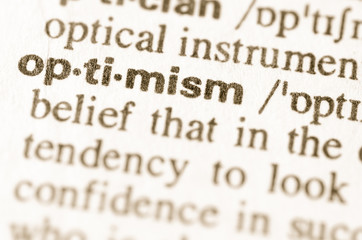Dictionary definition of word optimism