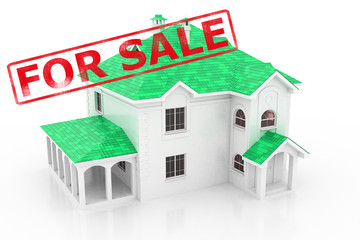 Property for sale. 3D house.