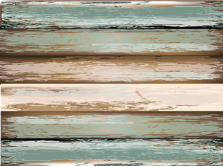 old, grunge wood panels used as background.vector illustration
