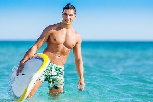 Beach, maui, handsome.