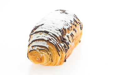 croissant chocolate isolated