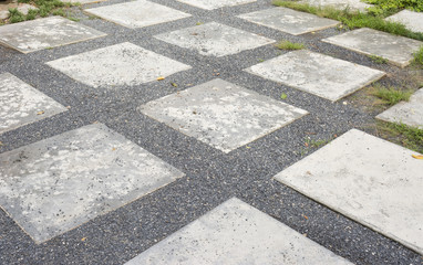 Road in the  garden or stone way into garden,texture