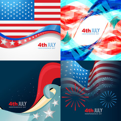 vector collection 4th of july american independence day backgrou