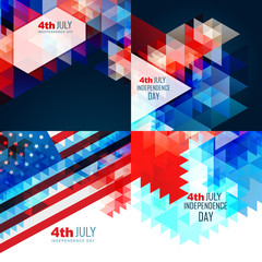 vector american independence day flag design illustration