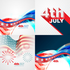 collection of 4th july american independence day background