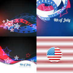 vector american independence day flag design illustration design
