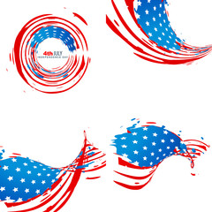 creative collection of american independence day background