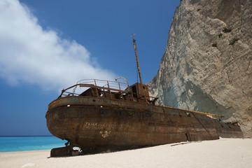 Shipwreck at Zakynthos island , Greece