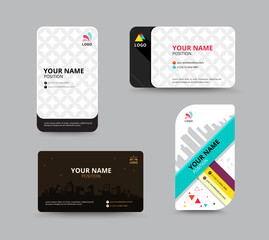 Luxury business name tag template, business card layout design, vector illu