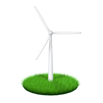 3d green energy wind turbine