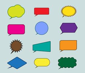 Speech bubbles icon. vector illustration.