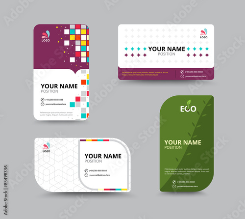 Contact card template business name card design set vector ill contact card template business name card design set vector ill flashek Gallery