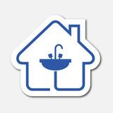 Logo salle de bain immagini e vettoriali royalty free for Consommation eau maison