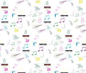 musical notes for use as wallpapers and pattern