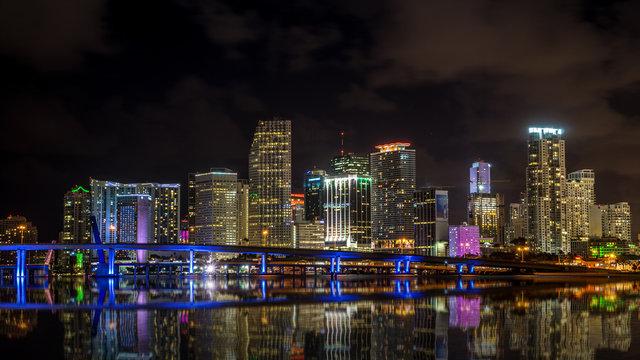 Miami Skyline at night