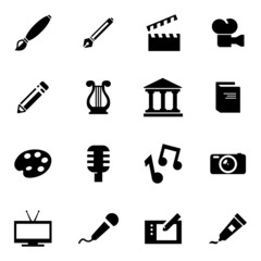 Vector black art icon set