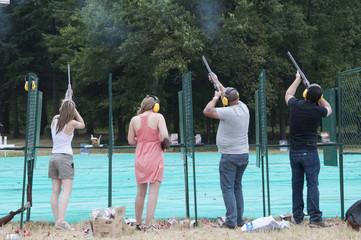 Entrainement de tir ball-trap