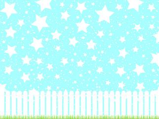 ガーデンフェンス 青空 スター 紙吹雪