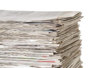 Aufgestapelte Zeitungen