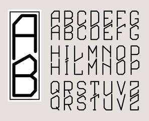 Rectangular Monogram Art Nouveau and a set of letters