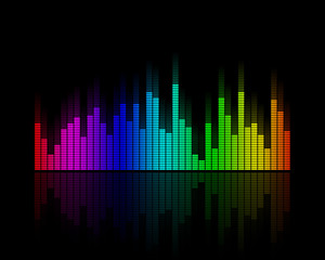 Multicolor Disco Equalizer