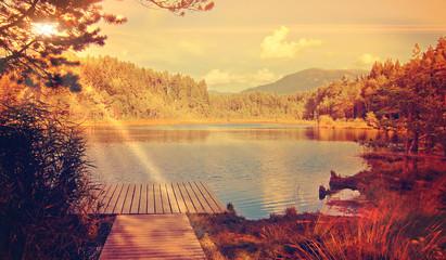 peaceful - wild lake